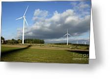 Windturbines Greeting Card