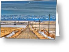 Winter Farmland Greeting Card