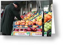 Winter Market Greeting Card