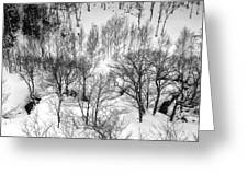 Winter Scene Shiga Japan Greeting Card