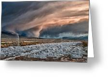 Winter Storm Greeting Card by Cat Connor