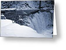 Winter Waterfall Snow Greeting Card