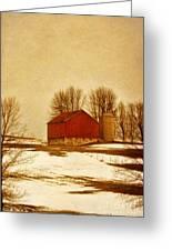 Wisconsin Barn In Winter Greeting Card