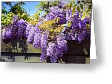 Wisteria Garden 8 Greeting Card