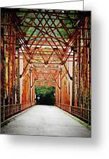 Wohler Bridge Over The Russian River Greeting Card