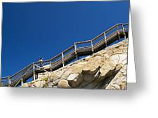 Woman Climbing Stairs Greeting Card