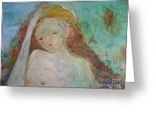 Woman Of Sorrows Greeting Card by Laurie Lundquist