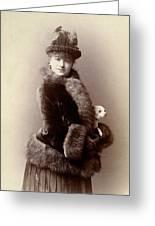Women's Fashion, 1890 Greeting Card