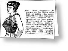 Women's Fashion, 1895 Greeting Card