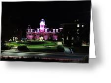Woodburn Hall At Night Greeting Card