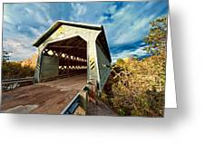 Wooden Covered Bridge  Greeting Card