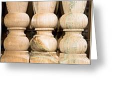 Wooden Posts Greeting Card