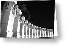 World War Pillars Greeting Card