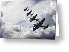 World War Two British Vintage Flight Formation Greeting Card by Matthew Gibson