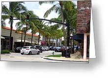 Worth Ave Palm Beach Fl Facing West Greeting Card