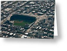 Wrigley Field From The Air Greeting Card
