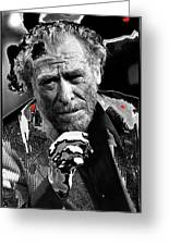 Writer Charles Bukowski On Tv Show Apostrophes In September 1978-2013 Greeting Card