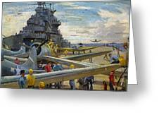 Wwii: Aircraft Carrier Greeting Card