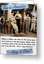 Wwii Us Poster, 1942 Greeting Card
