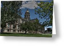 Wyoming Capitol Greeting Card by David Bearden