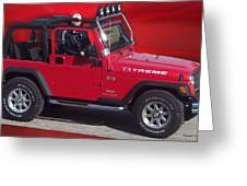Xtreme Jeep Greeting Card