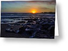 Yachats Sunset Greeting Card