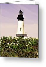 Yaquina Lighthouse In May Greeting Card