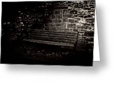 Ye Olde Bench In Bakewell Town Peak District - England Greeting Card