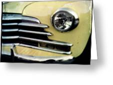 Yellow Chevrolet Greeting Card