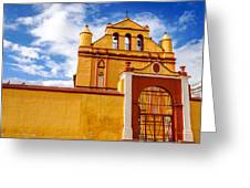 Yellow Colonial Church Greeting Card