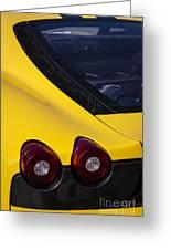 Yellow F430 Greeting Card