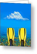 Yellow Fins Greeting Card