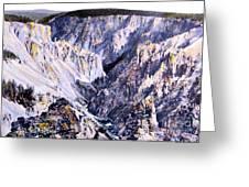 Yellowstone Canyon Yellowstone Np Greeting Card