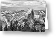 Yosemite Bw Greeting Card