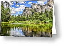 Yosemite Merced River Rafting Greeting Card