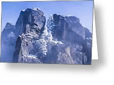 Yosemite Stone And Snow Greeting Card
