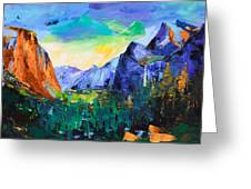 Yosemite Valley - Tunnel View Greeting Card