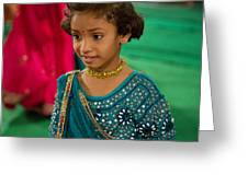 Young Dancer At The Navratri Festival Greeting Card