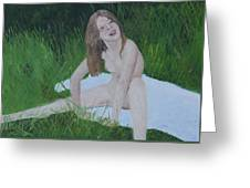 Young Naturist Greeting Card