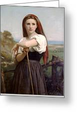 Young Shepherdess Greeting Card
