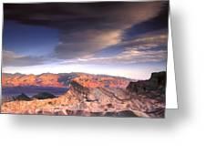 Zabriskie Point Death Valley Greeting Card