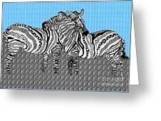 Zebra Love 19 Greeting Card
