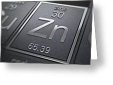 Zinc Chemical Element Greeting Card