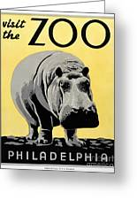 Zoo Poster C1936 Greeting Card