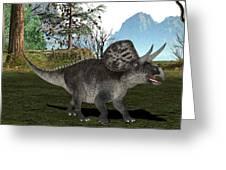 Zuniceratops Dinosaur Greeting Card