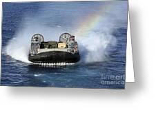 A Landing Craft Air Cushion Transits Greeting Card