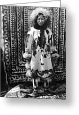 Alaska Eskimo Woman Greeting Card