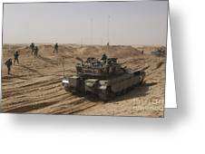 An Israel Defense Force Merkava Mark II Greeting Card