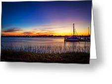 Bridge Of Lions St Augustine Florida Painted  Greeting Card