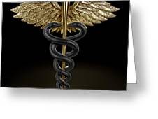 Caduceus Greeting Card